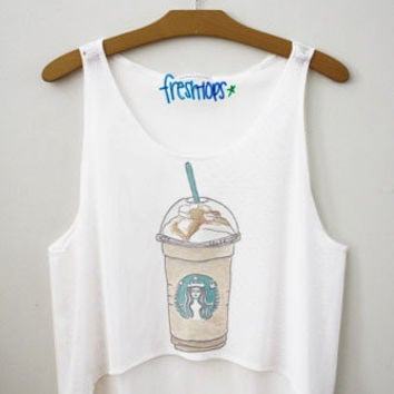 Starbucks Carmel frappuccino Fresh-Tops Crop Top | fresh-tops.com