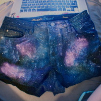 Custom Galaxy Shorts (up to three colors, your choice) Waist-30 Hips-38