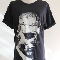 Zombie Boy Rick Genest Skull Tattoo Art Skull -- Zombie Boy Shirt Black Tee Shirt Women T-Shirt Men T-Shirt Zombie Boy T-Shirt Size M
