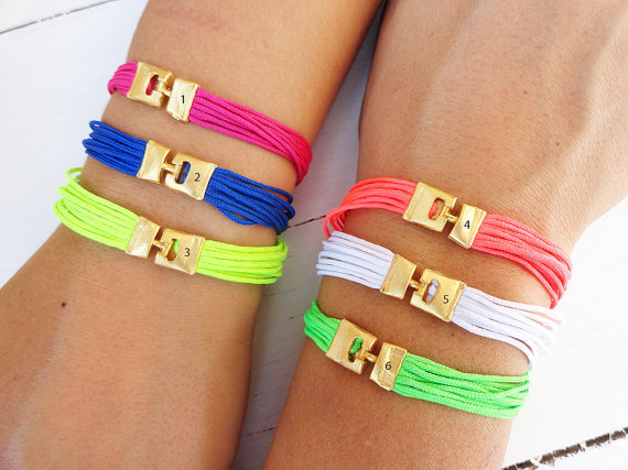 Colorful neon friendship string bracelets, women, wholesale, girl, beach, summer, multicolor, orange, lime green, yellow, white, blue, pink,