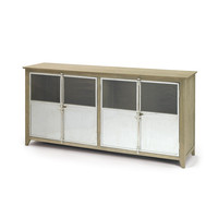 Selvege Wood with Stainless Steel Doors Sideboard