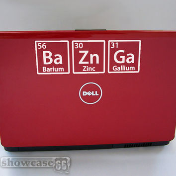 BAZINGA - Vinyl Wall Art - FREE Shipping - Fun Decal Inspired by The Big Bang Theory and the Periodic Table