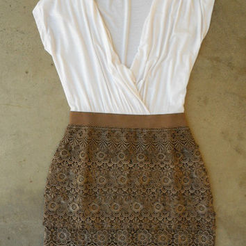 Crochet Macchiato Party Dress [3040] - $44.00 : Vintage Inspired Clothing & Affordable Summer Dresses, deloom   Modern. Vintage. Crafted.