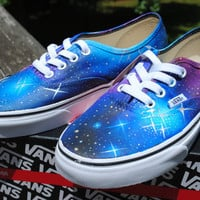 Custom Galaxy Vans inspired by real telescope images, made to order