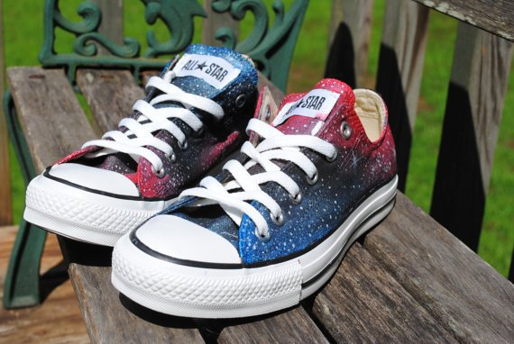 Galaxy Converse Lo or Hi-Tops for the same price, made to order
