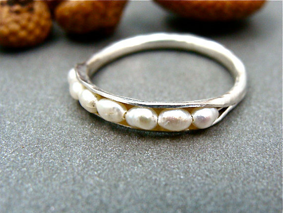 mini pearl stack ring