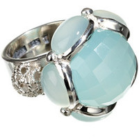 KumKum Jewelry from Sweden :: KWL_RI-WL-17-AQUA - Silver/aqua onyx ring