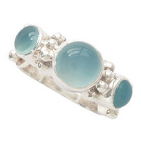 KumKum Jewelry from Sweden :: Silver aqua onyx ring