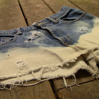 Severely Distressed Highwaisted Boyfriend Bleached Shorts (1040)