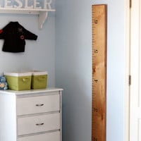 Ruler Growth Chart- Wooden, Portable, Light Finish