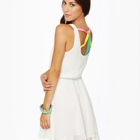 Cute Ivory Dress - Tank Dress - White Dress - $60.00