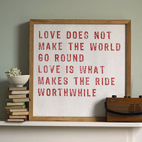 'love makes the ride worthwhile' art by coulson macleod | notonthehighstreet.com