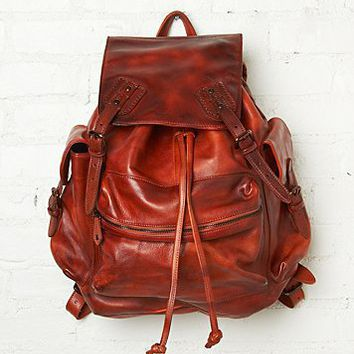 Free People Moto Distressed Backpack