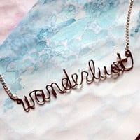 Wanderlust Necklace - Gift for a nomad, traveller, gypsy, free spirited woman