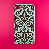 Damask Iphone 4 Case - Choclate Damask Iphone 4s Case, Iphone Case