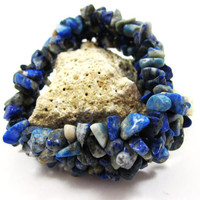 Lapis Lazuli Cuff Bracelet, Summer Trends, Fashion, Gift