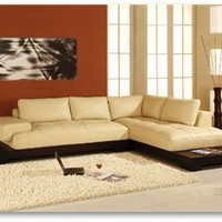 Manhattan Sectional Sofa Cream, Contemporary Sectionals Sofa, Living Room Furniture: Nyfurnitureoutlets.com