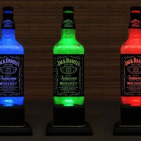 Jack Daniels Color Changing LED Remote Controlled Eco Friendly rgb LED by BodaciousBottles