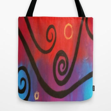 Dusk Abstract Tote Bag by DuckyB (Brandi)
