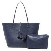 Sole Society Campbell Reversible Tassel Tote With Pouch