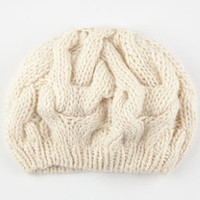 Chunky Cable Beret Oatmeal One Size For Women 24520842501