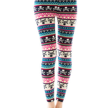 SKULL PRINT COZY LEGGINGS