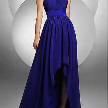 [$114.37 ] Elegant Chiffon Empire Strapless Prom Dress/Evening Dress - Dressilyme.com