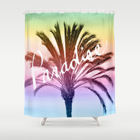 Paradise Shower Curtain by Lisa Argyropoulos