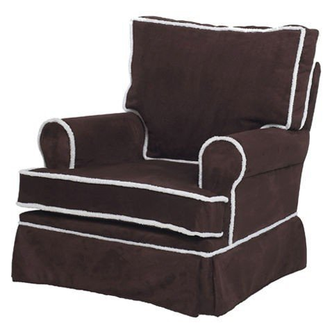 Harmony Kids Square Back Adult Glider in Chocolate - 00839