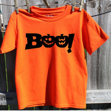Boo Halloween Shirt, kids, childrens Halloween shirt
