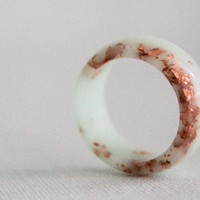 mint copper size 7 round resin eco resin ring