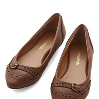 ModCloth Unmatched Charm Flat in Brown