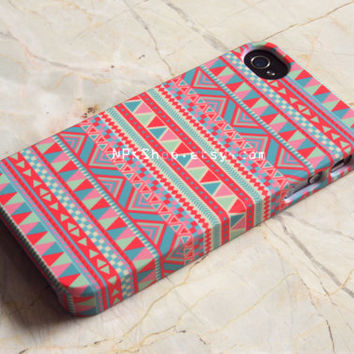 Pink Coral Aztec Geometric Tribal iPhone 5s Case , iPhone 5 Case , iPhone 4s, iPhone 6 Case , iPhone 6 Plus Case , Samsung Galaxy S5 S4 Case