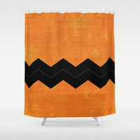 Halloween Chevron Shower Curtain by Kat Mun | Society6
