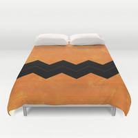 Halloween Chevron Duvet Cover by Kat Mun | Society6