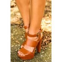 Like You Mean It Heels-Cognac