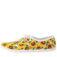Unisex Sunflower PrintTennis Shoe