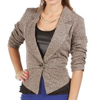 Black Animal Print Blazer