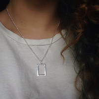 The 1975 Inspired Rectangle Necklace