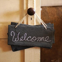 Slate Chalkboard Signs - Set of 4