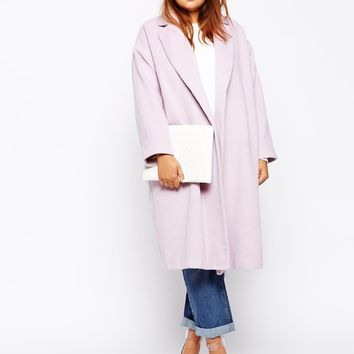 ASOS CURVE Coat In Relaxed Fit