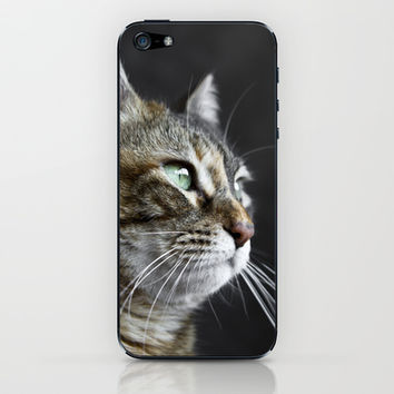 Cat portrait  iPhone & iPod Skin by VanessaGF