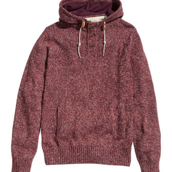 Hooded Knit Sweater - from H&M from H&M Sweaters