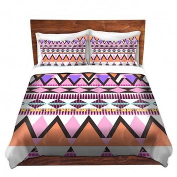 DiaNoche Designs Unique Decorative Designer Duvet Covers and Shams | Organic Saturation's Colorful Dream Nativo
