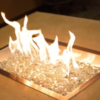The Outdoor GreatRoom Company Rectangular Crystal Fire Burner