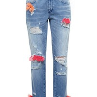 HOUSE OF HOLLAND | Tulle Embellished Distressed Jeans | Browns fashion & designer clothes & clothing