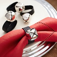 Jingle Bell Napkin Ring, Set of 4