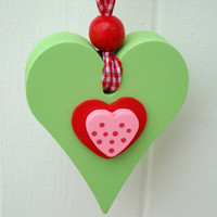 Small Wooden Chunky Heart on Luulla
