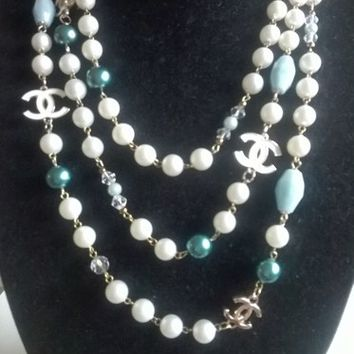 """Stunning 74"""" CHANEL Inspired Pearl Opera Necklace"""