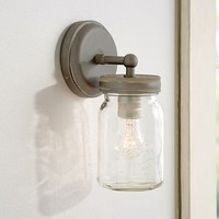 EXETER SCONCE, GALVANIZED METAL FINISH